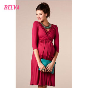maternity dress simple red
