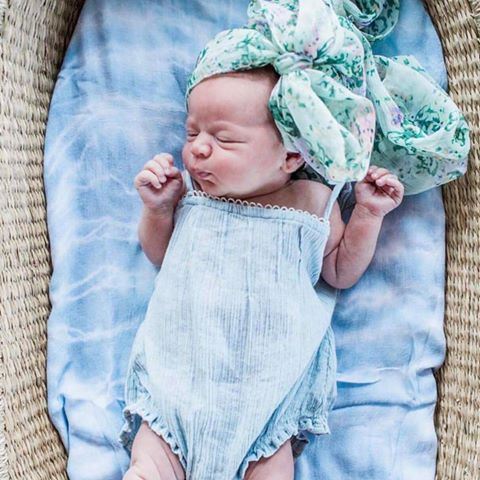 Teal Bamboo Cotton Tie Dye Swaddle