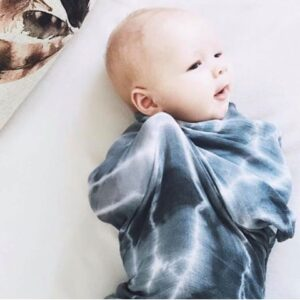 Indigo Bamboo Cotton Tie Dye Swaddle